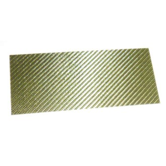 Glass Fiber/Epoxy Sheet yellow colored, surface high gloss finish on one side, dimensions 180 x 80mm², thickness 1,5mm