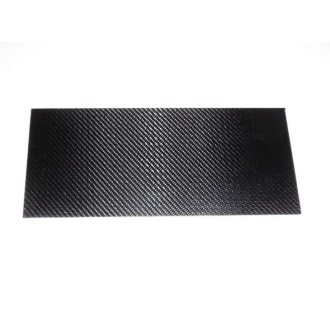 Carbon Fiber/Epoxy Sheet, surface 1K-Carbon high gloss finish on one side, dimensions 180 x 80mm², thickness 1,5mm